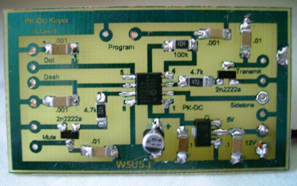 PK-DC Keyer Assembled PCB