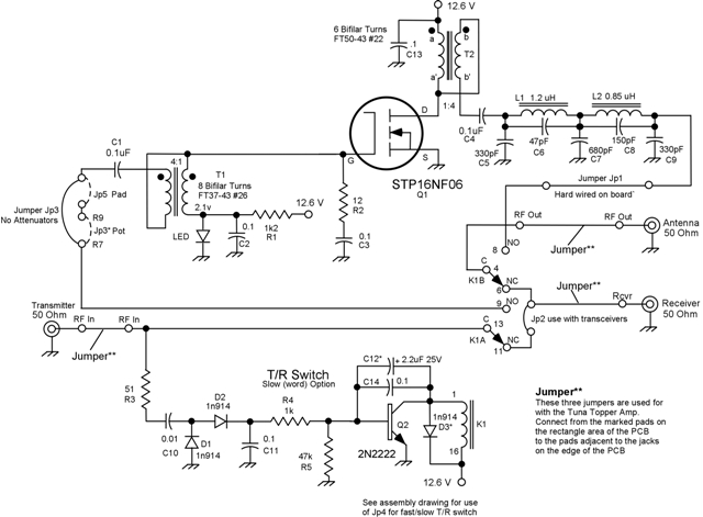 TxTopper Blue Board Schematic